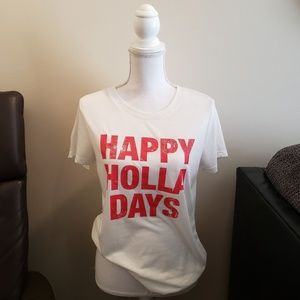 Modern Lux Happy Holidays Graphic Tee Short Sleeve